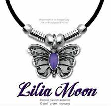 Purple Lilia Moon Butterfly Necklace Butterflies Jewelry Gift Sale Free Ship L*