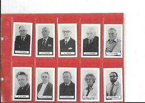 PERSONALITIES OF THE EAST ANGLIAN CIGARETTE CARD CLUB - FULL SET IN SLEEVES