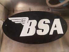 BSA motor cycles cast aluminium Sign, man cave, Workshop, classic bike dealer
