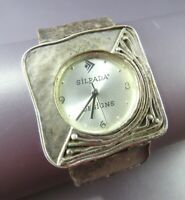 SILPADA T1372 Sterling Silver HAMMERED SQUARE LINK WATCH New Battery STATEMENT