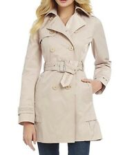 NWT Jessica Simpson Belted Double-Breasted Trench Coat Jacket Stone Tan sz Large