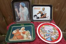 New listing (4) Vintage collectable trays