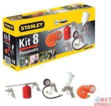 8 Accessori Stanley per Compressore con attacchi rapidi Aerografo Gonfiaggio..