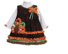 NWT Bonnie Jean Rare turkey dress Thanksgiving Size 7 New  outfit set Fancy