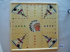 WAHOO WA HOO BOARD GAME 20 x 20 inch. DBL- SIDED 4 & 6 PLAYER. WITH IMAGES  KK16
