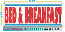 BED & BREAKFAST Banner Sign Vintage Retro Look Best Price!!!!!