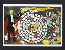 Modern postcard advertising MAGICIAN BOARD GAME Houdini + Maskelyne + Houdin