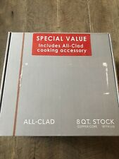 All Clad Copper Core/ Stainless Steel 8 Qt StockPot - New Incl Cooking Accessory
