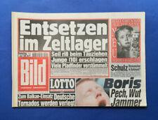 Bild Zeitung -   6. 6 .1995 - Rolling Stones * Boris Becker * Uwe Wegmann