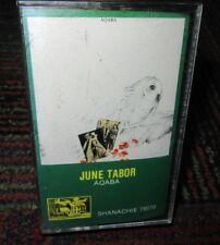 JUNE TABOR: AQABA CASSETTE, 1989 SHANACHIE RECORDS, 10 TRACKS, GUC