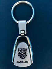 JAGUAR AUTO STAINLESS STEEL KEY RING WITH ROTATING FOB