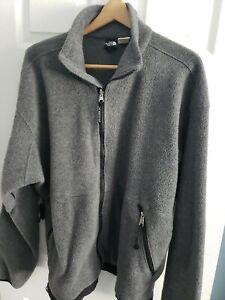 The North Face Men's Full-Zip Gray Cozy Warm Fleece Jacket XL