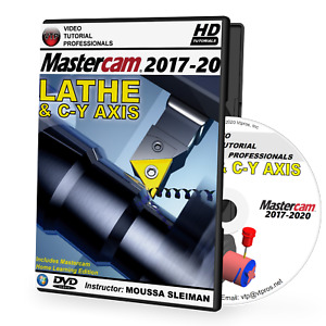 MASTERCAM 2017-2020 LATHE & C-Y AXIS Video Tutorial Training Course (2018, 2019)