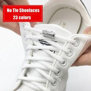 Elastic Tie Shoelaces Shoe Laces For Kids and Adult Quick Lazy Metal Lock Laces