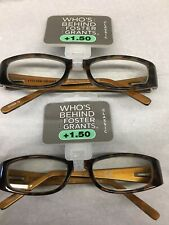 2 prs Foster Grant ESTELLE Reading Glasses woman's 1.50 new w/tag free shipping