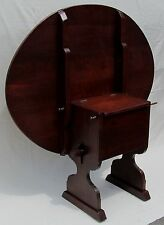 ANTIQUE QUEEN ANNE STYLE OVAL FORM CHERRY SHOE FOOT HUTCH TABLE - WONDERFUL