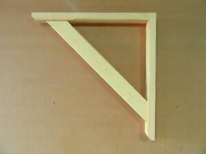 Gallows Bracket Timber Wooden Straight Brace Canopy Mortice & Tenon Jointed