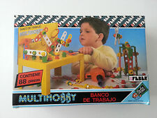 Kinder Spielzeug Baukasten Handwerk Multihobby Feber Banco De Trabajo Spain 1986