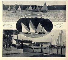 Die Berliner Woche Wannseeregatta Am Landungsteg in Wan...Bilddokumente von 1905