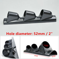 3-Hole Car A Pillar Dash Gauge Pod Mount Frame Cover Holder Carbon Fiber Style
