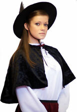 Victorian/Edwardian Ladies/Girls Short Velvet CAPE Fancy Dress One Size