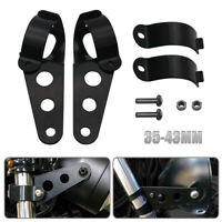 2X 35-43mm 7in Motorcycle Headlight Fork Mount Bracket For Cafe Racer Chopper