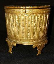 Antique Ornate Gold Gilt Beveled Glass Casket 3 x 2 1/4