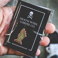 DEATH WISH COFFEE RUNDEAD ZOMBIE ENAMEL PIN - BRAND NEW