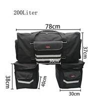 Waterproof Motorcycle Sissy T Bar Bag Saddlebag Motorcycle Travel Luggage 200L