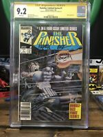 Punisher 1 Limited Series Newsstand Cgc 9.2 2x Signed John Beatty Michael Zeck