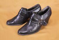 9D Tamaris Damen Absatz Schuhe Ankle Boots Leder schwarz Gr. 38 Schnallen
