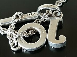 T Bar Links of London 925 Sterling Silver Necklace with J Pendant