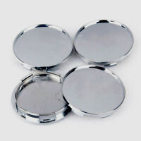 4PCS 68mm Universal Silver Car Wheel Center Hub Caps Covers Set ABS Plastic CL
