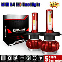 2X MINI H4 110W 28000LM LED Scheinwerfer Kit Einstrahl Nebelscheinwerfer 6000K