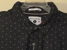 Cactus Man Button Down Shirt Blue & White Polka Dot Size XL Slim Fit Cotton NWT