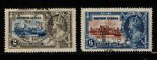 British Guiana 1935 King George V 2c, 6c Silver Jubilee SG301-02 Used