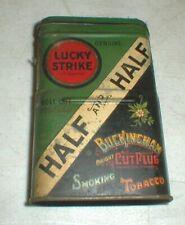 LUCKY STRIKE Half and Half Buckingham Cut Plug Smoking Pipe TOBACCO Tin   EMPTY