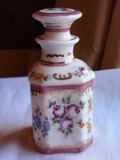 ANTIQUE CONTINENTAL PORCELAIN DRESSING TABLE BOTTLE
