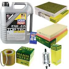 Inspection Kit Filter Liqui Moly Oil 5L 5W-40 for VW Polo 9N_1.2 12V Seat,
