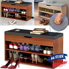 Cabinet Shoes Shoe Bench Wooden Box Organiser Storage Rack Shelf ACB#