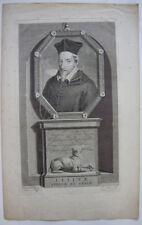 John Leslie (1527-1596) Schottischer Bischof von Ross Orig Kupferstich 1700