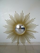 ancien miroir soleil CHATY VALLAURIS bombé sorcière old mirror sunburst 50