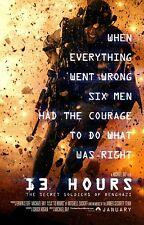 - John Krasinski 13 Hours Movie Poster Pablo Schreiber v5 24x36