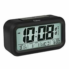 Peakeep Battery Digital Alarm Clock with 2 Alarms for Optional Weekday