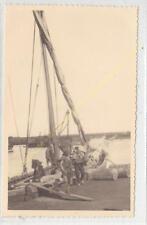 Format CPA Photo RPPC ALGERIE Alger Port Balancelle avec pêcheurs