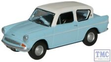 76105007 Oxford Diecast OO Gauge Ford Anglia Light Blue/Ermine White