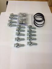 BMW To Vivaro Alloy Wobble Wheel Bolts, Locking Bolts, Spigot Rings Kit M14x1.5