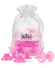 Spoolies Hair Curlers Official Store, 15 Jumbo Silicone Rollers - Playful Pink