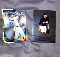 🔥⚾️ 2 Cards - George Springer '15 Bowman Chrome Series / '10 Bowman Platinum