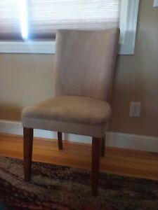Parson's chairs, set of 6, light beige.